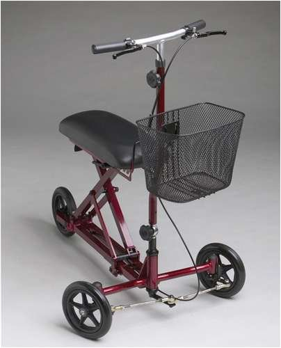 Medline Weil Knee Walker Burgundy