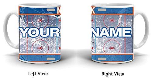 BRGiftShop Personalize Your Own Hockey Team New York Orange 11oz Ceramic Coffee Mug