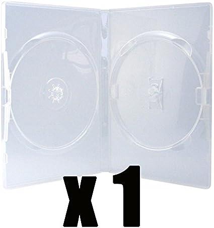 Caja 2 DVD de talla Standard & transparente – compra unitario: Amazon.es: Oficina y papelería