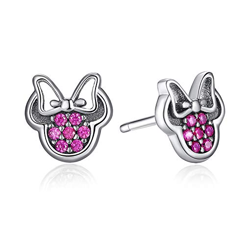 925 Sterling Silver Earrings Women Cartoon Animal Dolphin Cat Sparkling Silver 925 ()