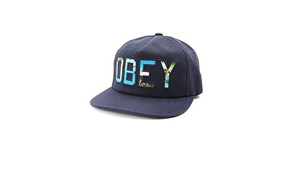Obey - Gorras - para hombre - Gorra con visera plana Wharf Navy para hombre azul marino talla única regulable : Amazon.es: Ropa y accesorios