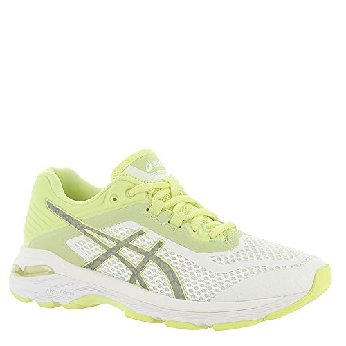 Control Stability Running Shoe 6 - ASICS Womens GT-2000 6 Lite-Show Sneaker, White/Silver/Limelight, Size 8