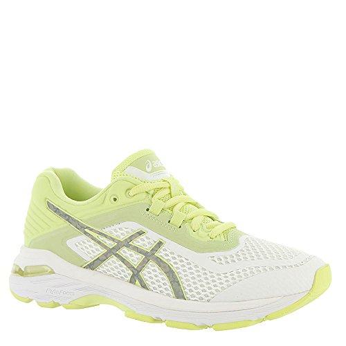 ASICS Womens GT-2000 6 Lite-Show Sneaker, White/Silver/Limelight, Size 7