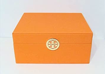 Amazoncom Tory Burch Makeup Cosmetic Storage Jewelry Box Medium