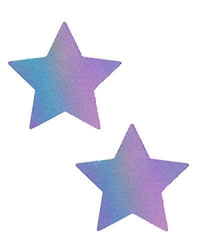 iHeartRaves Lustful Lilac Hologram Star Pasties (Set of 2 Pasties)