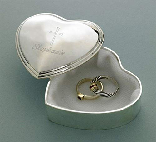 Personalized Heart Trinket Box with Engraved ()