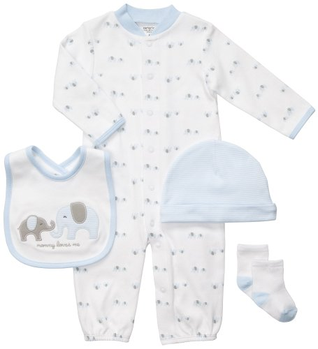 UPC 714442712420, Carter's 4-Piece Layette Set - Blue Elephants