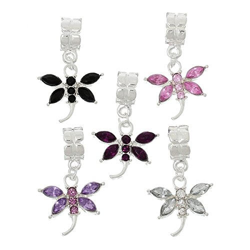 Housweety 10Pcs Dragonfly Dangle Bracelet