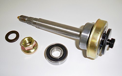 - Complete Shaft Assembly For 187291, 532187291, 192872 Includes Both Bearings, Pulley Locknut, Spacer, Blade Bolt/Washer