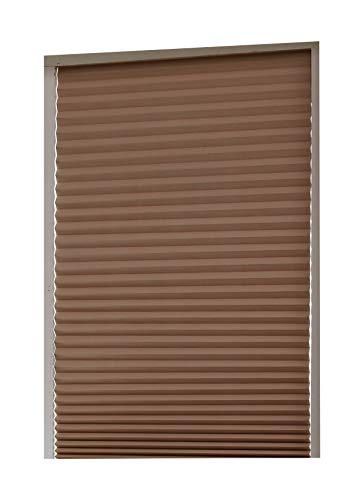 Aluminum Foil Coated Blackout Polyester Shades – Pleated Window Shades RICO Blinds Cappuccino, Cordless Easy Durable, 36inch x 94inch, 2Pack (Cappuccino, 94 inch)