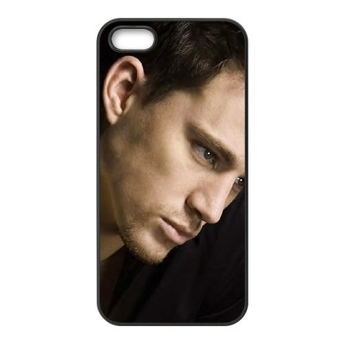Channing Tatum 001 coque iPhone 4 4S cellulaire cas coque de téléphone cas téléphone cellulaire noir couvercle EEEXLKNBC24091