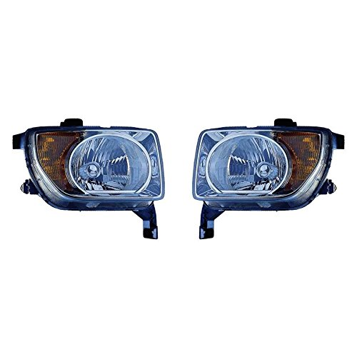 Fits Honda Element 2003-2006 Headlight Assembly Unit Pair - Driver and Passenger Side (CAPA Certified) HO2518106, HO2519106