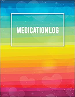 medication log daily medicine record tracker 120 pages large print