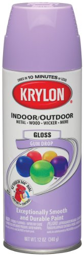 Krylon Colormaster Indoor/Outdoor Aerosol Paint 12oz-Gloss Gum Drop