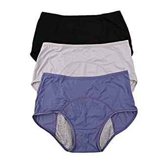 Women Mesh Holes Breathable Leakproof Period Panties US size 3XL/10 Blue Black Gray