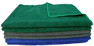 "Multi-purpose Microfiber Car Cleaning Cloths Dish Towels Absorbent & Fast Drying 16""x24"""