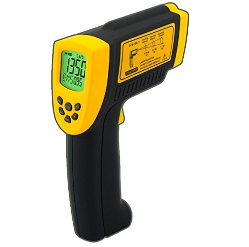 GOWE IR Laser Point Gun Non Contact Infrared Thermometer LCD Digital Infrared Thermometer -18~1350C (-58~2282F)
