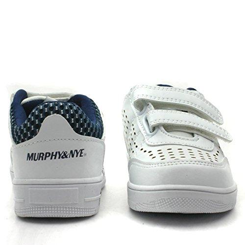 MN810 Murphy&Nye Velcro Strap Sport Shoe for Boys in White >      > Chaussure de sport avec sangle velcro pour les garçons, couleur blanche