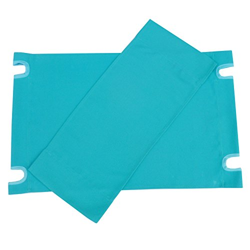 (Zew Replacement UV Treated Color Durable Canvas for Bamboo Folding Directors Chairs, Aqua)