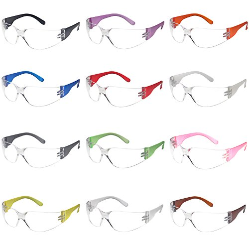 Safety Glasses 12x Assorted Protective Eyewear (Environmental Science Activities For High School Students)