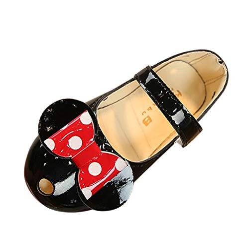 iYBUIA Dark Butterfly Summer Lovely Kids Baby Girls Dark Bowknot Polka Dot Non-Slip Single Shoes Sneakers Black