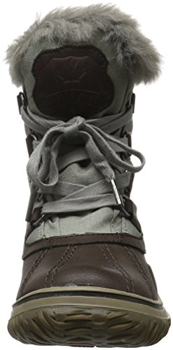 Boots Ice Damen Grau Dunkelbraun Braun Pick Ankle Pajar qvf8xqw