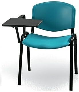 10 Sedie in tessuto con scrittoio ribaltina tavoletta per sala corsi ...