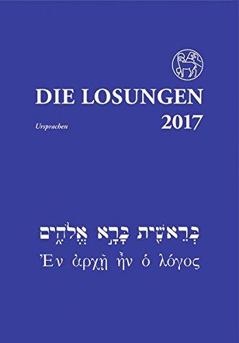 Die Losungen 2017/Losungen in der Ursprache: Deutschland/Deutschland