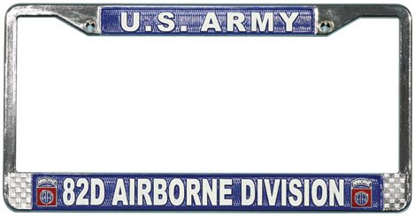 82nd Airborne Division License Plate ()