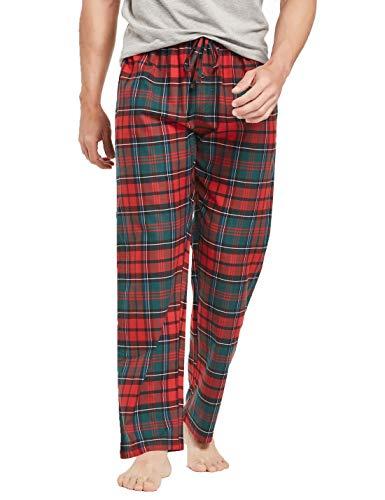 - CYZ Men's 100% Cotton Premium Super Soft Flannel Plaid Pajama/Louge Pants-F1605-M