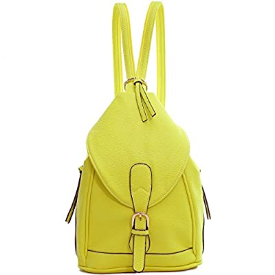 Dasein Mini Women Convertible Backpack Purse Faux Leather Triangle Shoulder  Sling Bag Multipurpose Daypack good a170f8aa2c