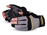 Superior MXF Clutch Gear Leather Open-Finger Framers Glove, Work (Pack of 1 Pair)