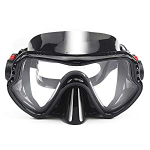 EXP VISION Snorkel Diving Mask, Professional Snorkeling Mask Gear, Ultra Clear Lens with Wide View Tempered Glass…