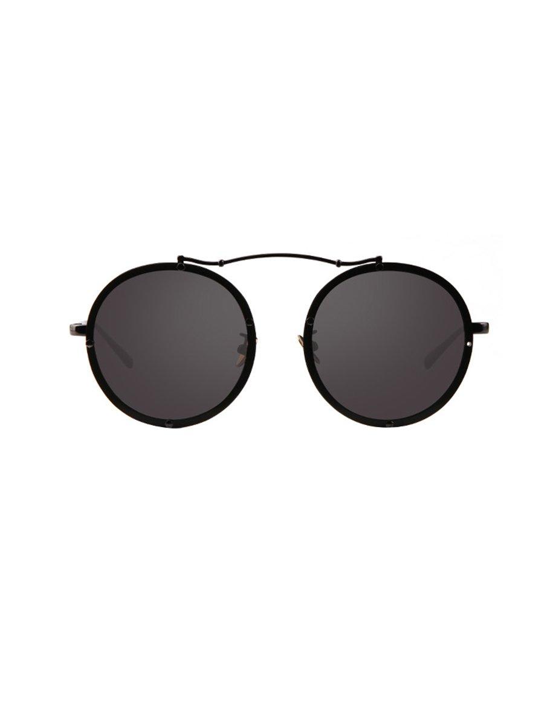 Gafas de sol de protección solar Gafas de sol polarizadas marea de la manera La cara redonda femenina que conduce las gafas de sol Vidrios femeninos retros del marco Fácil de llevar ( Color : 2 )