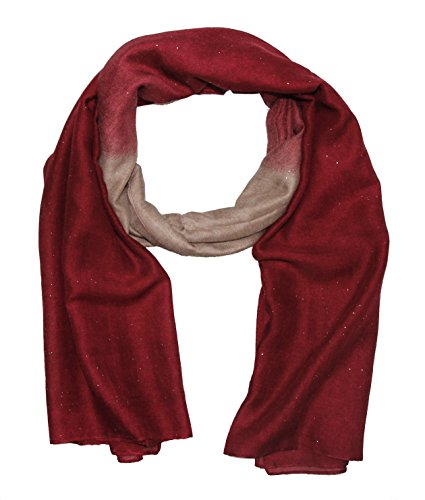 Batik Beige Lentejuelas plata Lang Bordeux de tubo bufanda mujeres nRnwqSxZ