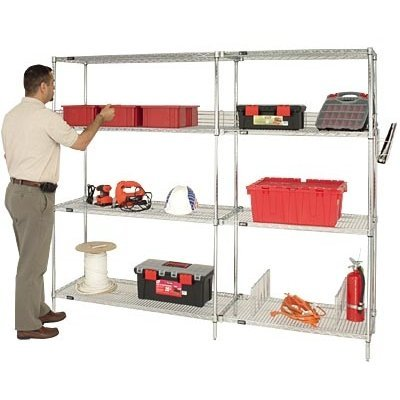 Steel Reinforced Shelving Unit - Quantum Storage Systems WR54-1848C Starter Kit for 54