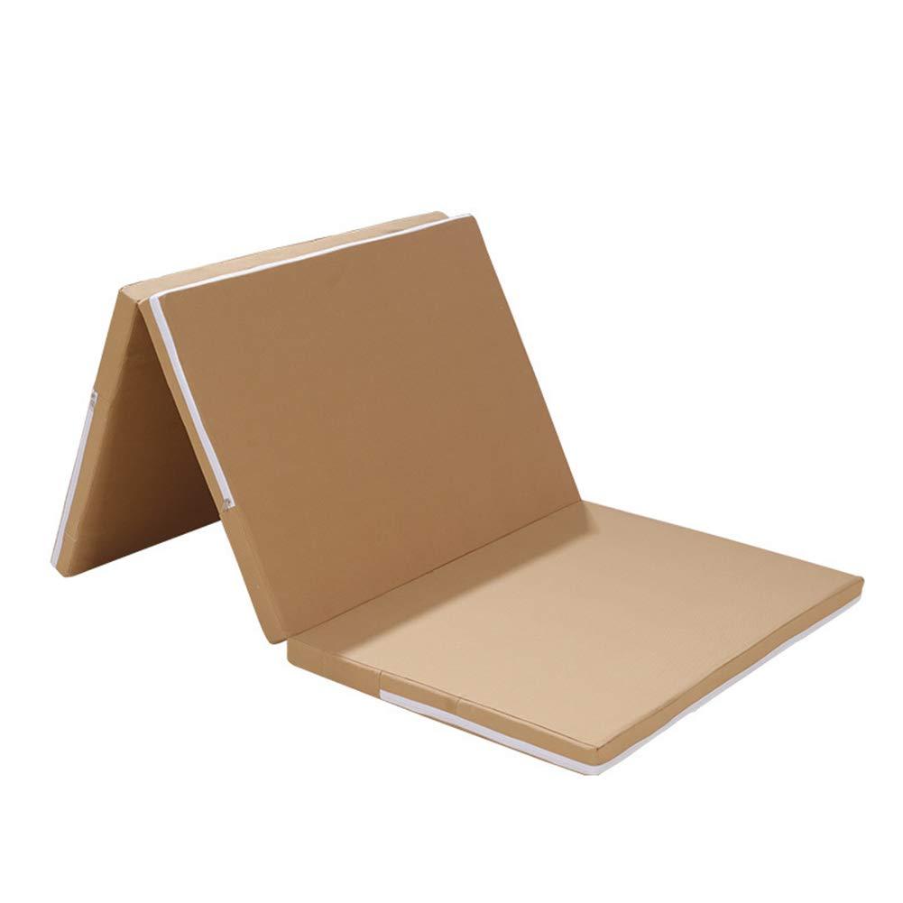 Klappmatratze Herausnehmbare Und Waschbare Braune Kokosnuss-Palme Super Weiche Medizinische Single-Cover Rutschfeste Unterseite Isomatte (135X200x5cm)