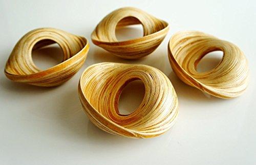 Infinity Spun Bamboo Napkin Ring (Set of (2 Spun Bamboo)