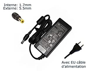 Lavolta-Adaptador de corriente alterna para Packard BELL nm87gn010-Power-Ordenador portátil (TM) de marca () con enchufe europeo