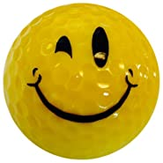GBM Golf Smiley Novelty 3 Ball Sleeve, Wink