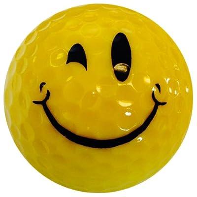 GBM Golf Smiley Novelty 3 Ball Sleeve, Wink