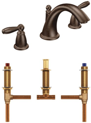 Brantford Two Handle (Moen T4943ORB-4792 Brantford Two-Handle Low Arc Roman Tub Faucet with Valve, Oil Rubbed Bronze)