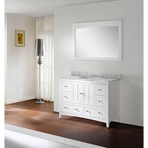 """Jade Bath JB-17672 47.5"""" W x 18"""" D Plywood-Veneer Vanity Set, White hot sale"""