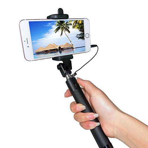 selfie stick jife battery free wired selfie stick for iphone se 6s 6s plus. Black Bedroom Furniture Sets. Home Design Ideas