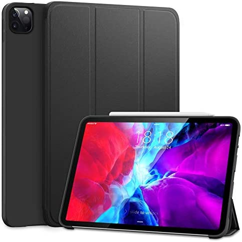 DTTO Case for iPad Pro 11 Inch 2nd/3rd Generation 2021/2020/2018,Ultra Lightweight Smart Trifold Stand with TPU Soft Back Cover,Also Fit iPad Air 4 [Auto Sleep/Wake], Black