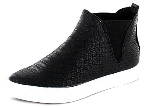 MARCO TOZZI mujeres zapatillas altos, antideslizante, diseño de bota 14,28 cm, color negro, diseño de piel de serpiente