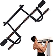 YIOFOO Doorway Pull Up Bar with Ergonomic Grip, Exercise Equipment Body Gym System No Screws Trainer, Multi-Gr