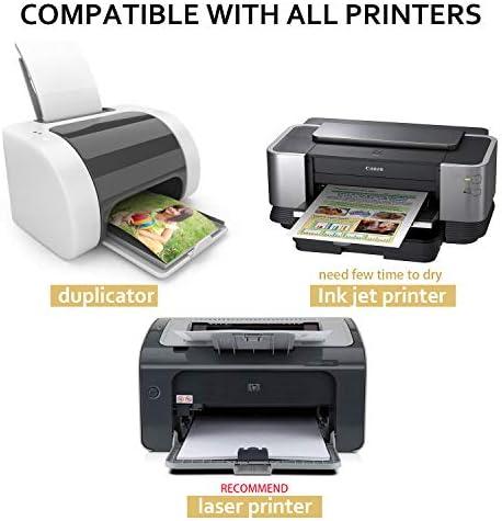 Etiqueta universal Imprimible 65 piezas 210 x 297 mm, Papel adhesivo brillante Blanco Autoadhesivo Imprimible para impresora de inyección de tinta y láser - 100 Etiquetas autoadhesivas A4: Amazon.es: Hogar