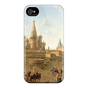 Iphone 4/4s Case Bumper Tpu Skin Cover For Medieval City Accessories