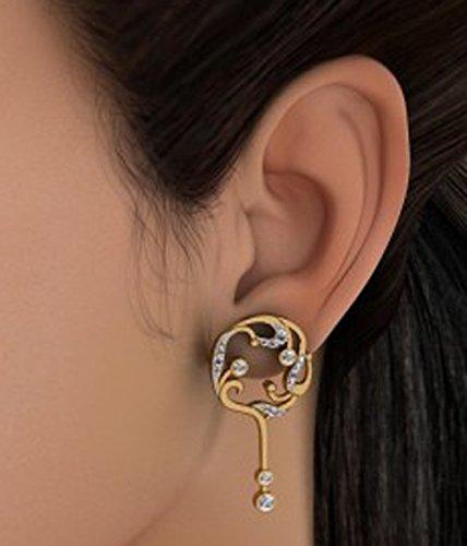 14K jaune Or 0,42CT TW White-diamond (IJ | SI) Pendants d'oreilles
